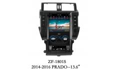 Carmedia ZF-1801 Головное устройство для Toyota Prado 150 (2013-16) на Android (Tesla)