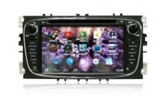 Штатное головное устройство CARMEDIA для FORD Mondeo, Focus 2 (чёрный)