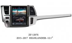 Carmedia ZF-1207 Головное устройство для Toyota Highlander U50 (2014+) на Android (Tesla)
